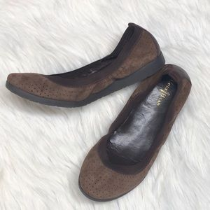Cole Haan Shoes - Cole Haan leather chestnut 'Gilmore' ballet flat